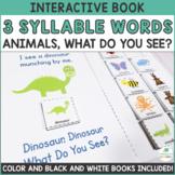 Interactive Adapted Books - Multisyllabic Words - 3 Syllab