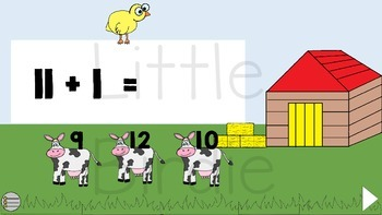 Interactive Addition Game: Addition on the Farm.