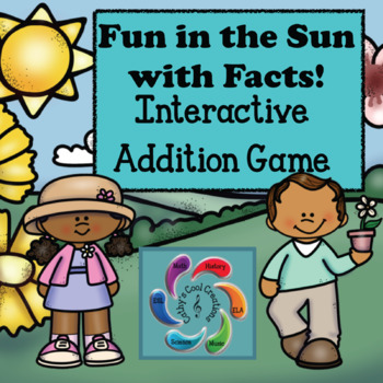 Interactive Addition Game-Fun in the Sun with Facts distance learning