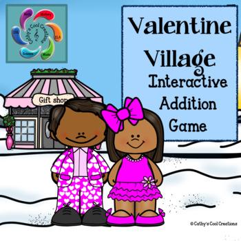 Interactive Addition Game-Valentine Village
