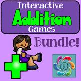 Interactive Addition Games Mega Bundle!!- distance learning