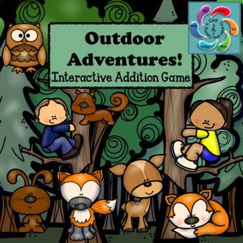 Interactive Addition Games for Google Slides/Adobe Reader-Outdoor Adventures