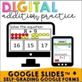 Interactive Addition Google Slides + Google Forms | Self-grading