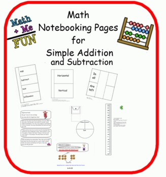 Addition and Subtraction Foldables