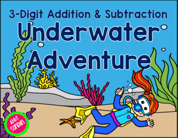 Interactive Addition & Subtraction Underwater Adventure {FREE Sample in Preview}
