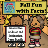 Interactive Addition and Subtraction Game Bundle-Fall Fun with Facts