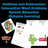 Interactive Addition and Subtraction Word Problems