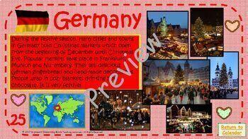 Interactive Advent Calendar - Christmas Around the World Facts