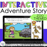 No Print Zoo Themed Story for Preschool Speech Therapy l Distance Learning