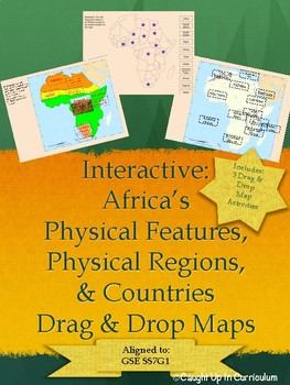 Interactive Africas Physical Features Regions and Countries Maps