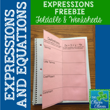 Expressions Worksheet and Foldable