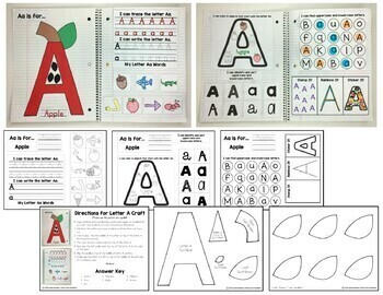 Interactive Alphabet Notebook (Uppercase Alphabet Letters | Distance Learning)