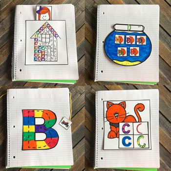 Interactive Uppercase Alphabet Notebook Bundle