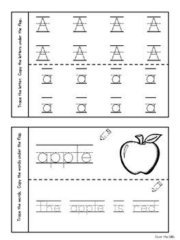 Interactive Alphabet Notebooks {Letter ID, Phonics, Handwriting}