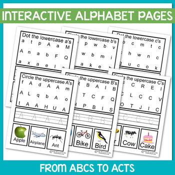 Interactive Alphabet Pages Bundle - Upper and Lowercase Letters