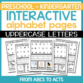 Interactive Alphabet Pages - Uppercase Letters