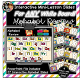 Interactive Alphabet Review for Kindergarten  - Works with
