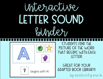 Interactive Letter Sound Binder