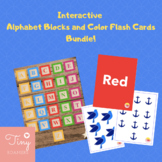 Interactive Alphabet and Color Flash Cards Bundle!