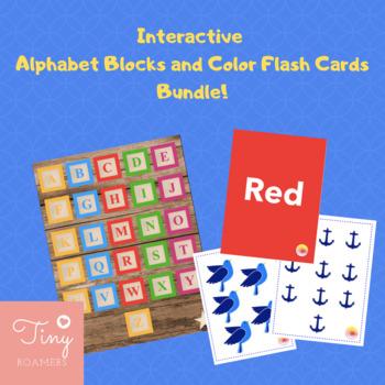 Interactive Alphabet and Color Flash Cards Bundle!