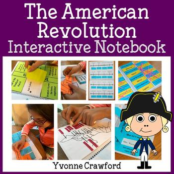 Interactive American Revolution Notebook with Scaffolded Notes