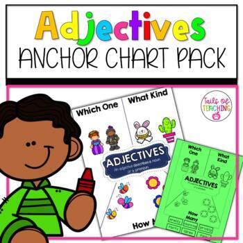 Interactive Anchor Chart + Interactive Notebook ADJECTIVES