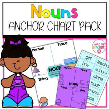 Interactive Anchor Chart + Interactive Notebook NOUNS FREEBIE