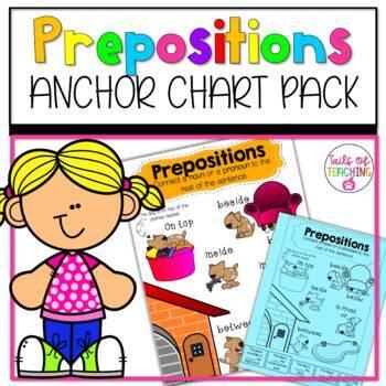 Interactive Anchor Chart + Interactive Notebook PREPOSITIONS