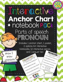 Interactive Anchor Chart + Interactive Notebook PRONOUNS