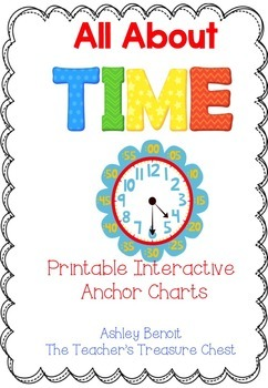 Interactive Anchor Charts for Teaching Time
