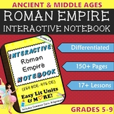 Interactive Notebook for the Roman Empire (Ancient Rome) ~ Common Core 5-9
