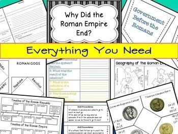 Interactive Notebook for the Roman Empire (Ancient Rome) ~ Common Core 5-9