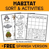 Animal Habitats Sort Activities