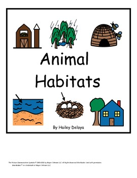 Interactive Animal Habitat Book for Kids with Autism and Early Readers