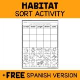 Animal Habitat Sort Activity