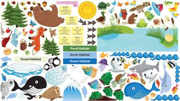 Interactive Animal Habitats Wall Play Set