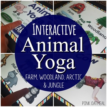 Interactive Animal Yoga PowerPoint Game (Farm, Arctic, Woodland, and Jungle)