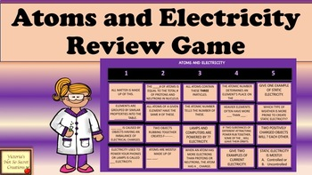 Interactive Animated PPT Review GAME Electricity and Atoms
