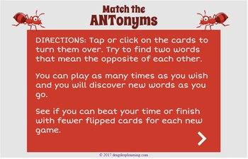 DIGITAL Antonym Game - Antonym Activity