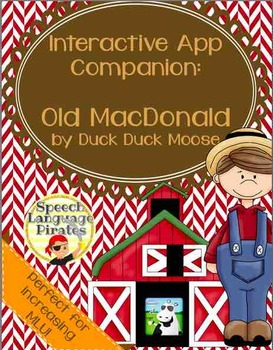 Interactive App Companion: Old MacDonald (Duck Duck Moose)