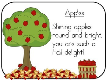 Interactive Apple Poem Slides & Activity Pages