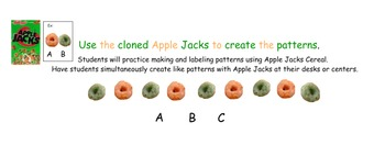 Interactive A is for Apple Jacks Math plus Activity Sheets