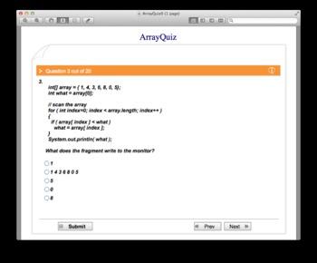 Interactive Array Quiz