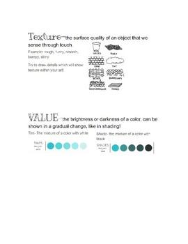Interactive Art Notebook- Elements of Art