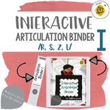 Interactive Articulation Binder for Speech Therapy /r, s, z, l/