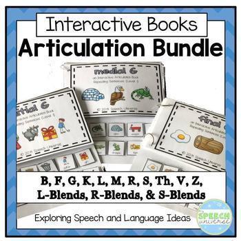 Articulation Interactive Books: Bundle