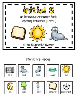 Articulation Interactive Books: S and Z
