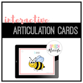 700+ Interactive Articulation Cards | NO PRINT | Teletherapy + Distance Learning