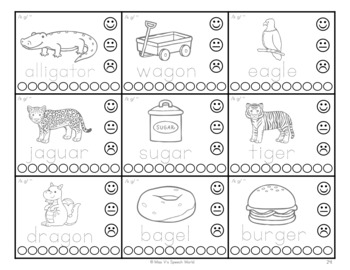 Interactive Articulation Drill Cards -  Speech Therapy, 3 levels, 11 sounds