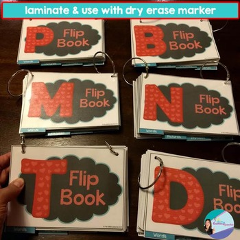 Interactive Articulation FLIP BOOKS For Early Developing Sounds /p,b,t,d,m,n/